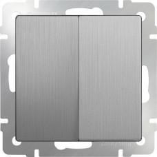 Выключатель Cеребряный рифленый WL09-SW-2G