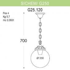 Уличный подвесной светильник Globe 250 G25.120.000.VYE27