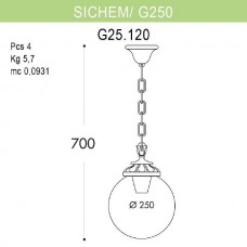Уличный подвесной светильник Globe 250 G25.120.000.VZE27